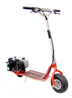Gtr46 goped trail ripper 46 gas powered scooter for Stand on scooters with motor